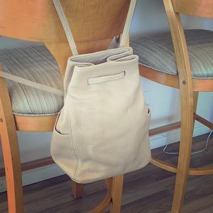 Vintage Coach Pebble Leather Backpack Tan